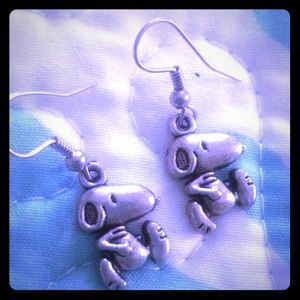 3 for $15 Snoopy dog silver earrings. FREE gift!